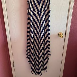Used Long Sleeveless Stripped Dress